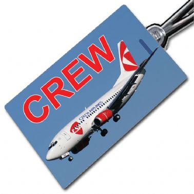 CSA CZECH AIRLINES Boeing 737 Crew Tag